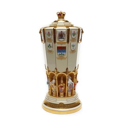 A ivory colour porcelain vase.